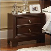 Coaster Nortin Two Drawer Nightstand in Dark Cherry