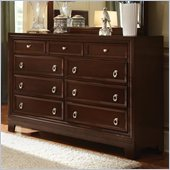 Coaster Nortin Nine Drawer Double Dresser in Dark Cherry