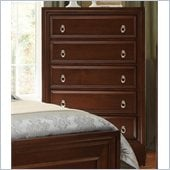 Coaster Nortin Five Drawer Chest in Dark Cherry
