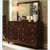 Coaster Nortin Dresser and Mirror Set in Dark Cherry