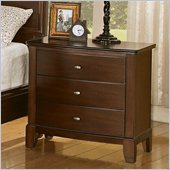 Coaster Addley Three Drawer Nightstand in Dark Cherry