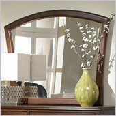 Coaster Addley Shell-Shaped Mirror in Dark Cherry