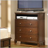 Coaster Addley Three Drawer Media Chest in Dark Cherry