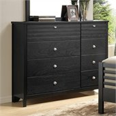 Coaster Richmond Eight Drawer Double Dresser in Black