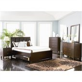 Coaster Lorretta 4 Piece Bedroom Set in Dark Brown