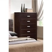 Coaster Andreas Five Drawer Chest in Cappuccino Brown