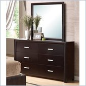 Coaster Andreas Dresser and Mirror Set in Cappuccino Brown