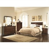 Coaster Tatiana 4 Piece Headboard Bedroom Set in Espresso