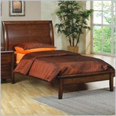 Coaster Hillary and Scottsdale Platform Bed in Warm Brown Finish