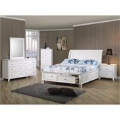 Coaster Selena 4 Piece Bedroom Set in White Finish