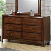 Coaster Hillary and Scottsdale 6 Drawer Double Dresser in Warm Brown