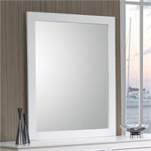 Coaster Selena Mirror in White Finish