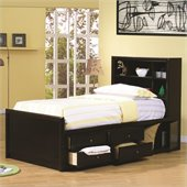 Coaster Phoenix 6 Piece Bedroom Set in Cappuccino Finish