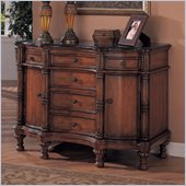 Coaster Accent Cabinets Bombe Chest with Six Drawers in Reddish Brown