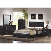 Coaster Dylan 4 Piece Bedroom Set in Black