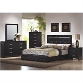 Coaster Dylan 6 Piece Bedroom Set in Black