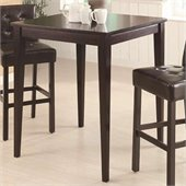 Coaster Counter Height Square Pub Table in Cappuccino