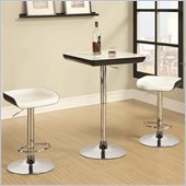 Coaster 3 Piece Adjustable Bar Table and Stool Set