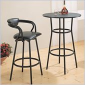 Coaster Dixie 3 Piece Bar Table and Stool Set