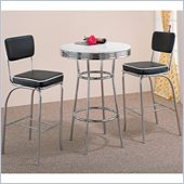 Coaster Cleveland 3 Piece Bar Table and Stool Set