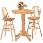 Coaster Woodlawn 3 Piece Pub set in Light Natural Wood