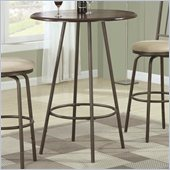 Coaster Adjustable Bar Table with Wood Top