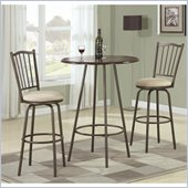 Coaster Adjustable 3 Piece Pub Set