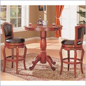 Coaster Harrison 3 Piece Pub Set in Warm Cherry