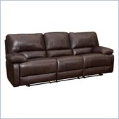 Coaster Geri Transitional Reclining Motion Sofa in Leather Match Brown