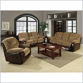 Coaster Malena Motion 3 Piece Sofa Set in Chenille