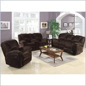 Coaster Ajay 3 Piece Sofa Set in Chocolate Velvet