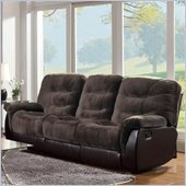 Coaster Elaina Comfortable Recliner Motion Sofa in Chocolate and Brown
