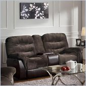 Coaster Elaina Comfortable Recliner Loveseat in Chocolate and Brown