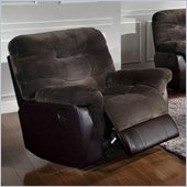 Coaster Elaina Comfortable Glider Recliner Chair  in Chocolate and Brown