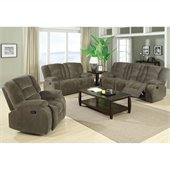 Coaster Charlie Motion 3 Piece Reclining Sofa Set