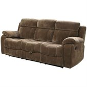 Coaster Myleene Motion Reclining Sofa in Padded Velvet