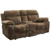 Coaster Myleene Motion Double Gliding Loveseat with in Padded Velvet