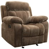 Coaster Myleene Motion Recliner Chair in Padded Velvet