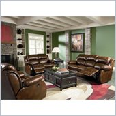 Coaster Morrell 3 Piece Recliner Sofa Set in Rich Brown