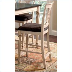 Coaster Camille 25 Counter  Stool in Cream and Damask
