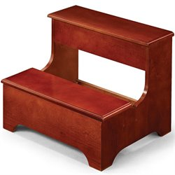 Coaster Traditional Step Stool with Storage in Cherry