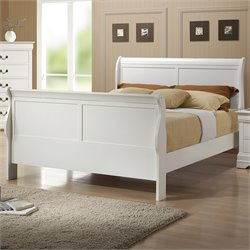 Coaster Louis Philippe Full Sleigh Bed in White