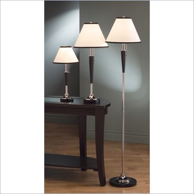 Coaster Three Piece Lamp Set in Black