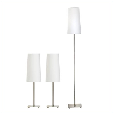 Coaster Three Piece Lamp Set in White