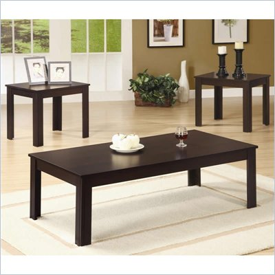 Coaster 3 Piece Occasional Table Sets Casual 3 Piece Set in Walnut