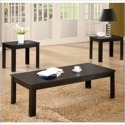 Coaster 3 Piece Occasional Table Sets Casual 3 Piece Set in Black