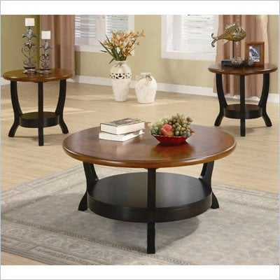 Coaster 3 Piece Occasional Table Sets Two Tone Occasional Table Set