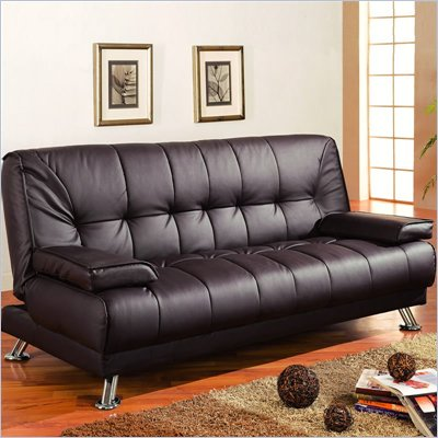 Coaster Furniture Brown Vinyl Match Convertible Sofa