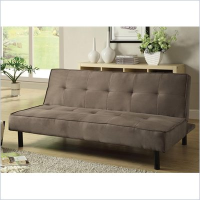 Coaster Padded Convertible Sofa Bed in Brown
