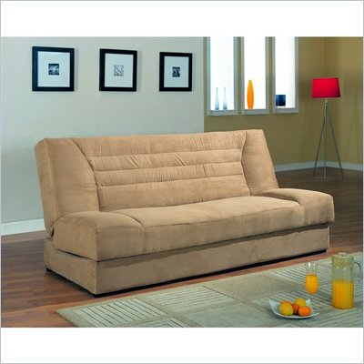 Coaster Modern Microfiber Sofa Bed with Storage in Tan